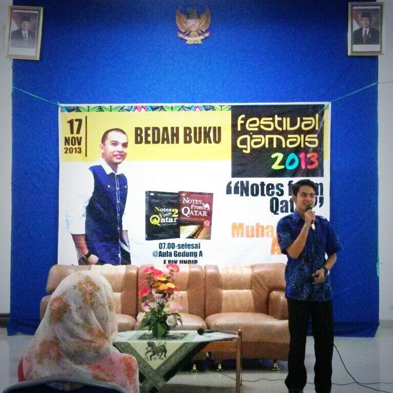 Gambar 1. Sambutan Ketua Panitia Festival Gamais Barriyadi Rifai